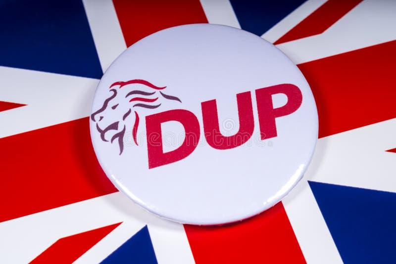 Partito di unionista democratico e la bandiera BRITANNICA fotografie stock libere da diritti
