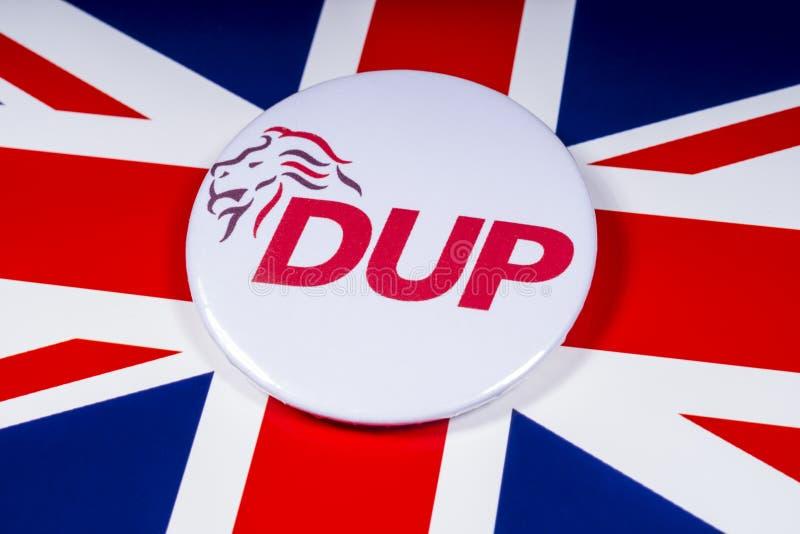 Partito di unionista democratico e la bandiera BRITANNICA immagine stock libera da diritti