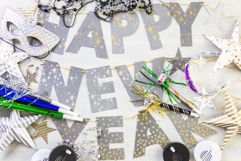 Partito di vigilia del nuovo anno fotografia stock libera da diritti