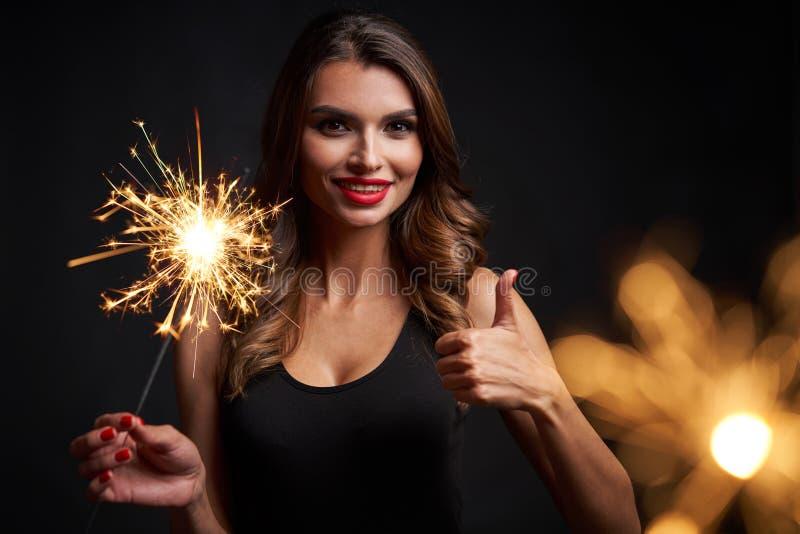 Partito, feste, nuovo anno o Natale e concetto di celebrazione immagini stock libere da diritti