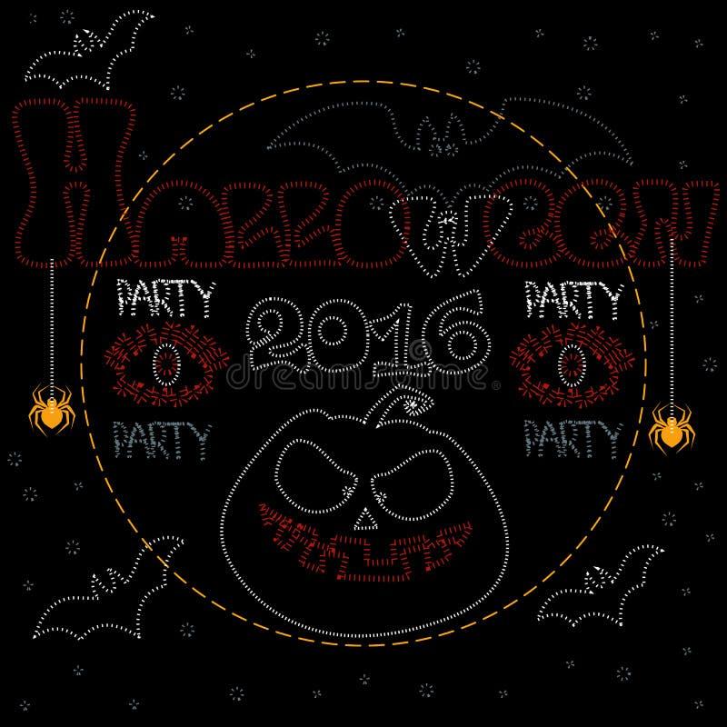 Partito Halloween 2016 royalty illustrazione gratis