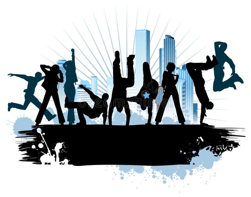 Partito urbano della città illustrazione vettoriale