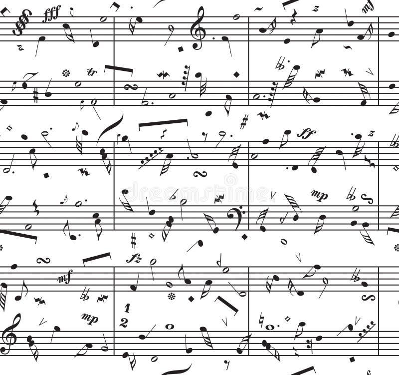 Partitura Del Piano Del Vector Ilustración del Vector - Ilustración ...