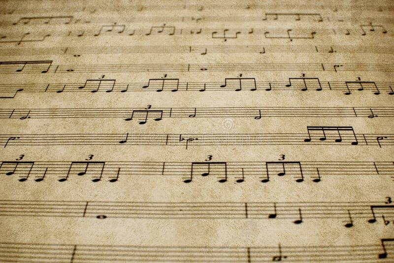 Partitura Del Piano Del Vintage Foto de archivo - Imagen de hoja ...