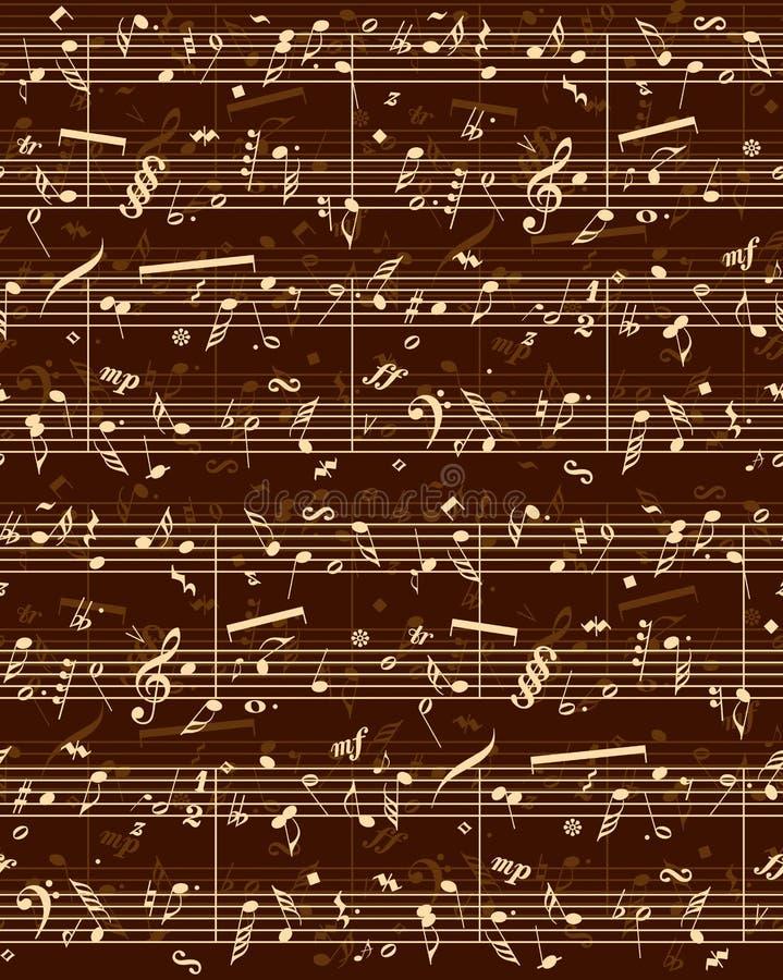 Partitura do piano do vetor ilustração royalty free
