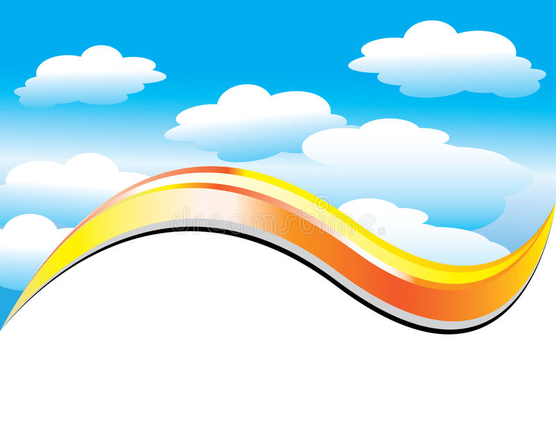 Partly Cloudy vector illustration