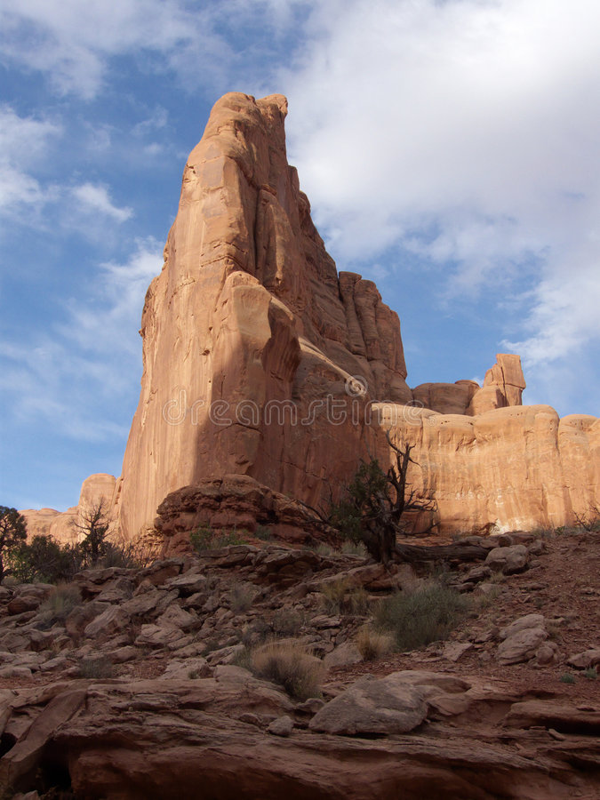 Download Partly Cloudy stock image. Image of arches, southwest - 9172145