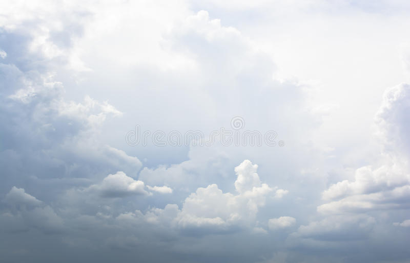 Partly cloudy sky. And background stock photography
