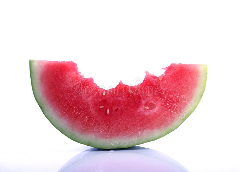 Download Partly Eaten Watermelon Stock Photo - Image: 6007350