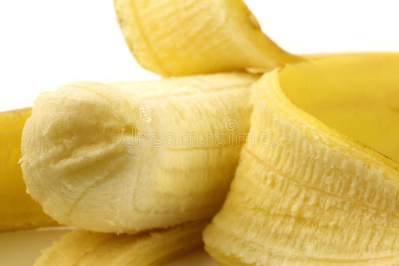 Download Partly peeled banana stock image. Image of snack, food - 16295361