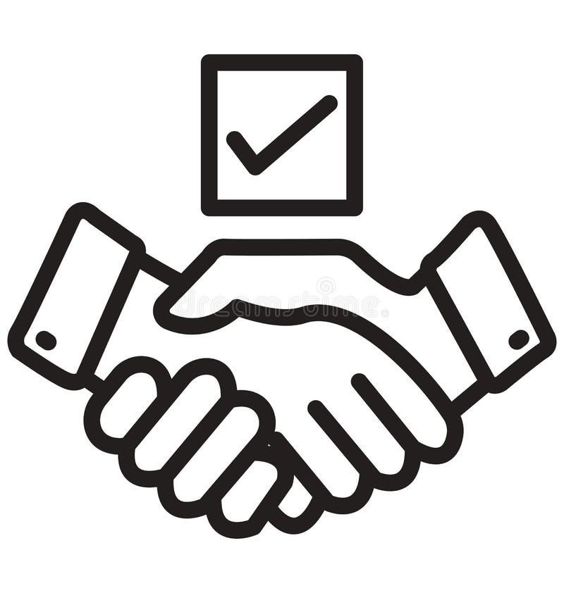 Partner Biznesowy linia odizolowywająca ikona może łatwo redagować i modyfikująca ilustracja wektor