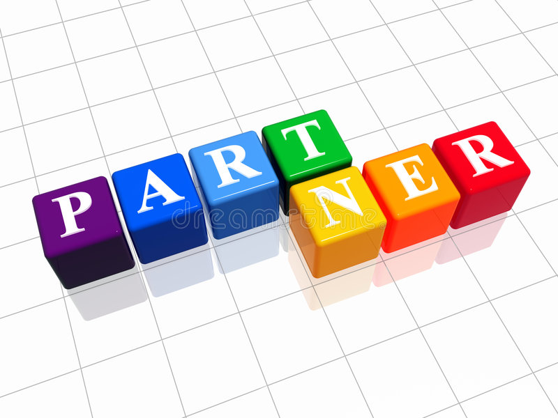 Partner in der Farbe stock abbildung