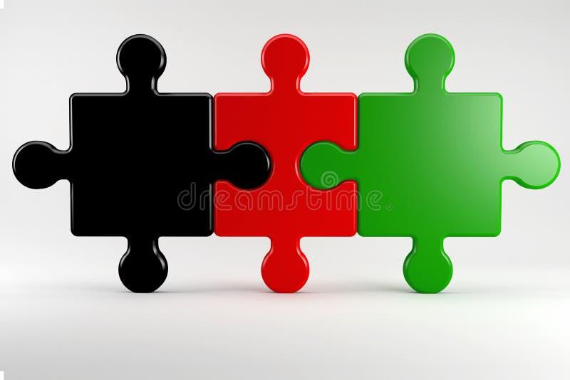 Partner di coalizione tedeschi nel colore dei loro partiti immagini stock
