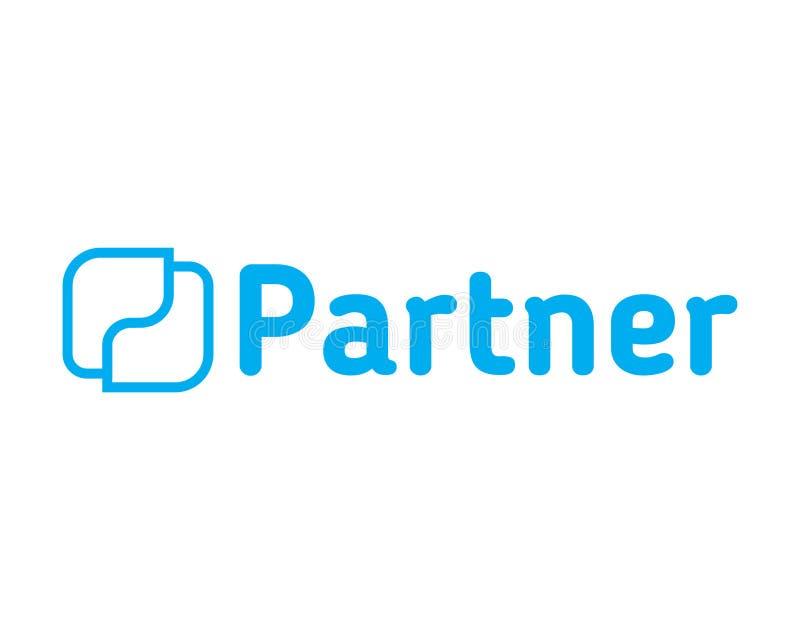 Partner Logo Design stock illustrationer