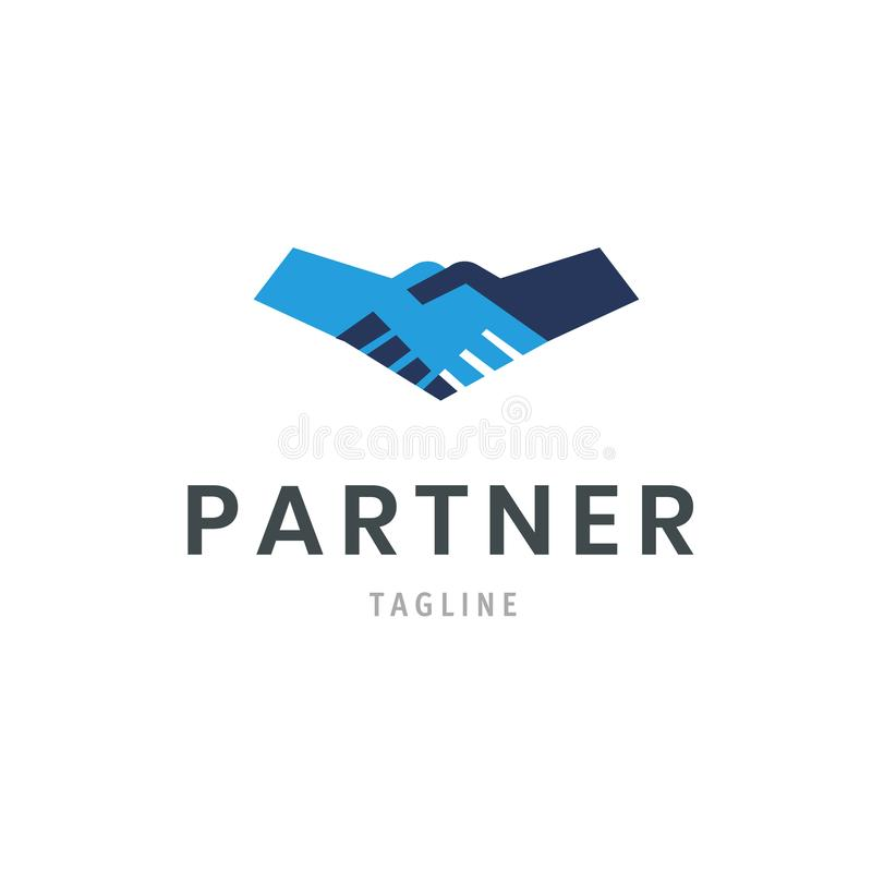 Partner logo template handshake icon. Hand shake isolated deal symbol design. vector illustration