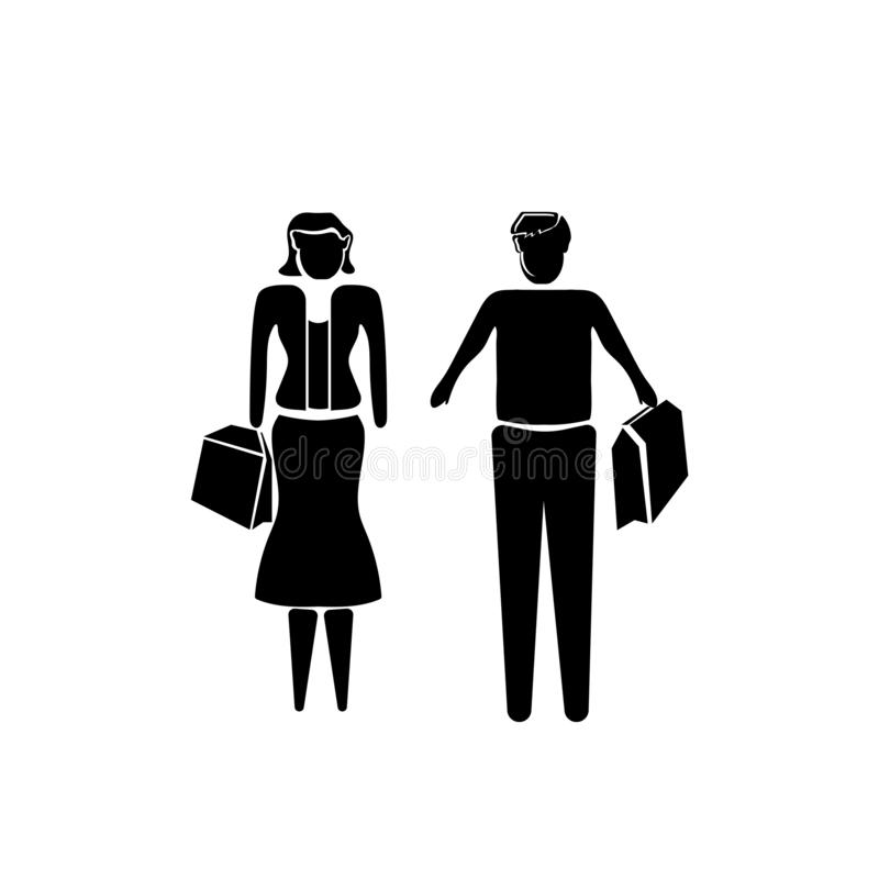 Partner nel vettore dell'icona di affari isolati su fondo bianco, partner nel segno di affari, illustrazioni di affari illustrazione vettoriale
