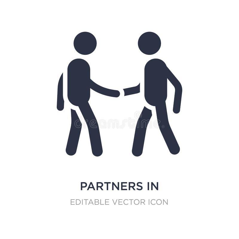 partner nell'icona di affari su fondo bianco Illustrazione semplice dell'elemento dal concetto di affari illustrazione vettoriale