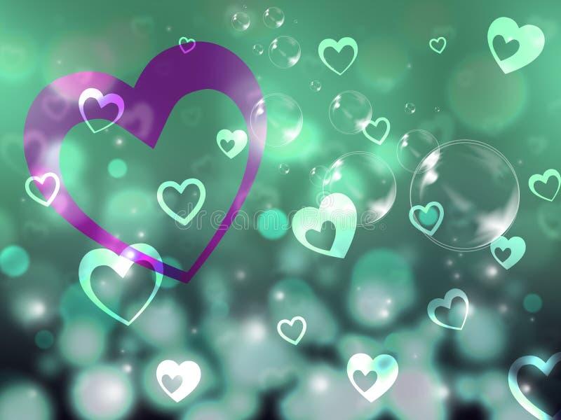 Partner och affektion för romans för hjärtabakgrundshjälpmedel stock illustrationer
