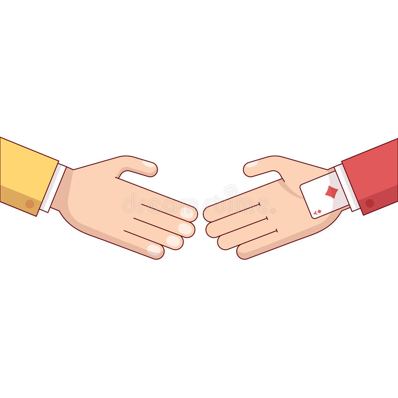Partner oszukiwa i oszukiwa ilustracji
