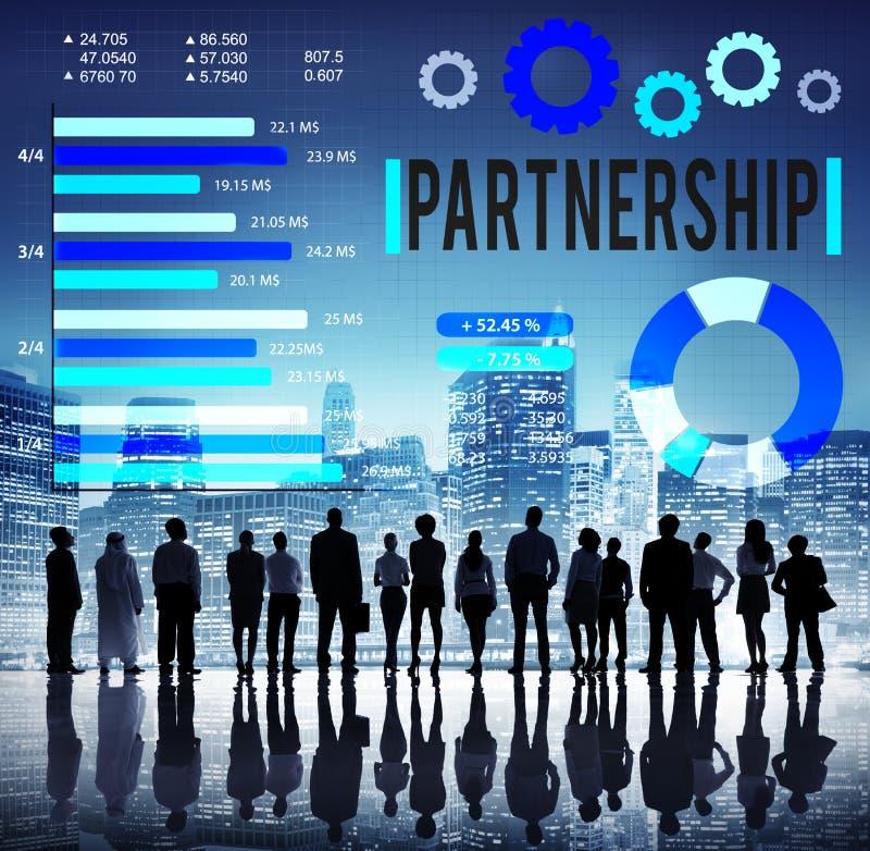 Partner Team Teamwork Organization Concept di associazione immagini stock