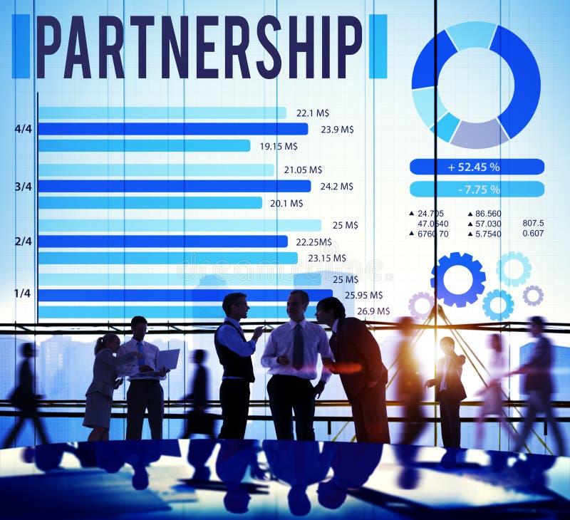 Partner Team Teamwork Organization Concept di associazione immagine stock libera da diritti