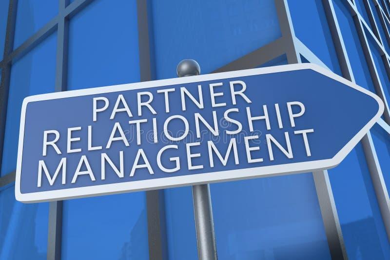 partner Verhouding houden vector illustratie