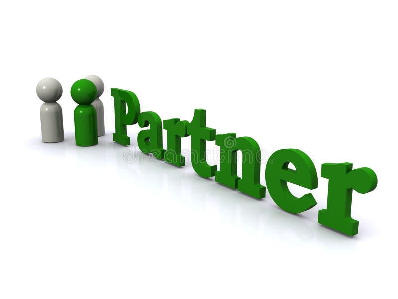 Partnera biznesowy znak ilustracja wektor