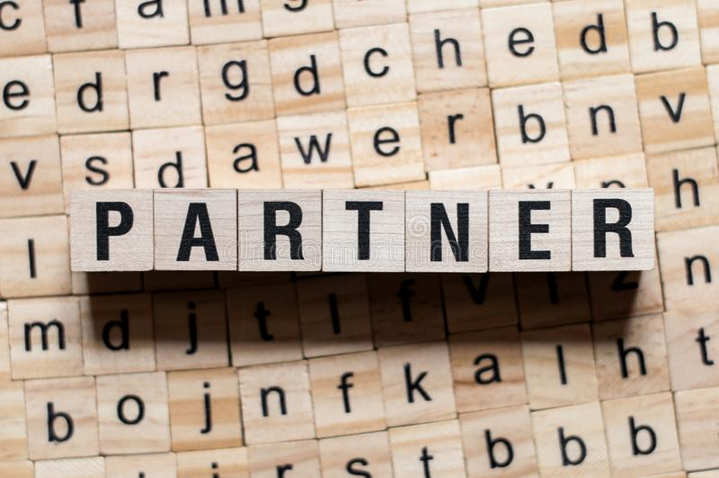 Partnerordbegrepp arkivfoton