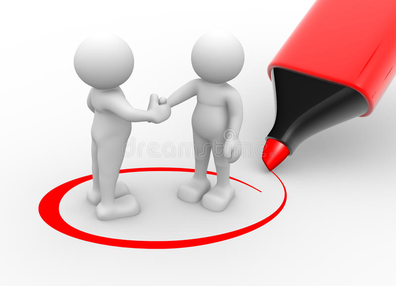 Download Partners stock illustration. Illustration of handshake - 24990529