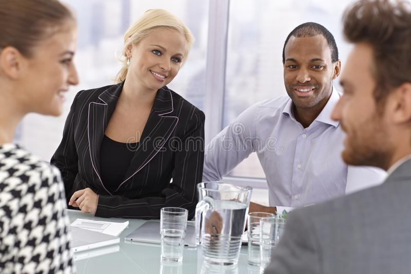 Partners at a businessmeeting stock photo