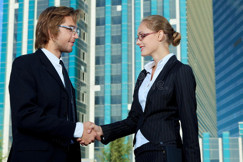 Download Partners together stock image. Image of achievement, city - 26713561