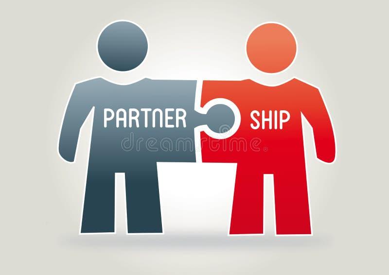 Partnerschaft, Konzept lizenzfreie abbildung