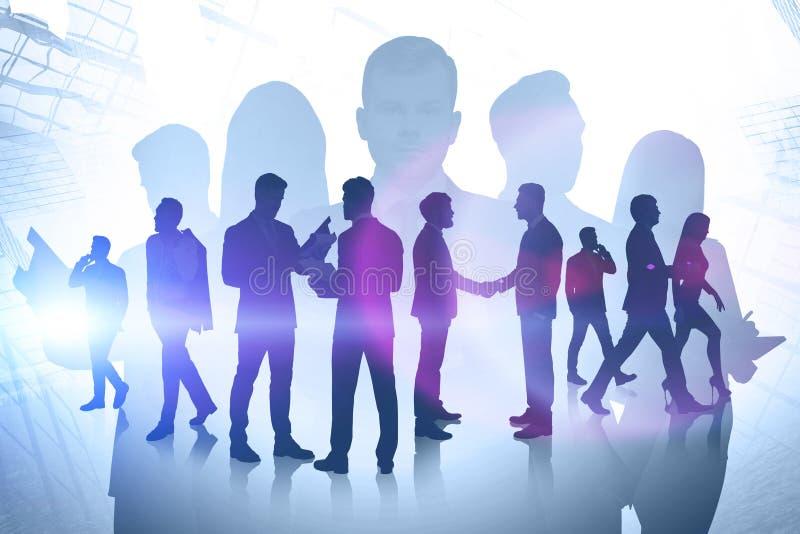 Partnerschaft und Zusammenarbeit zwischen Unternehmen-Konzept lizenzfreies stockfoto
