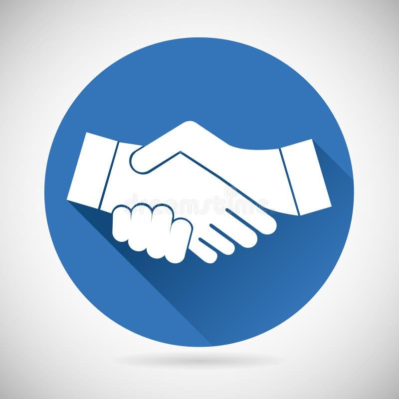 Partnerschafts-Symbol-Händedruck-Ikonen-Schablone vektor abbildung