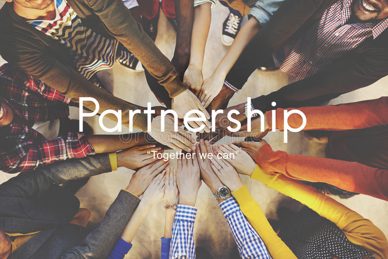Partnerschafts-Vereinbarungs-Geschäfts-Zusammenarbeits-Konzept stockfotografie