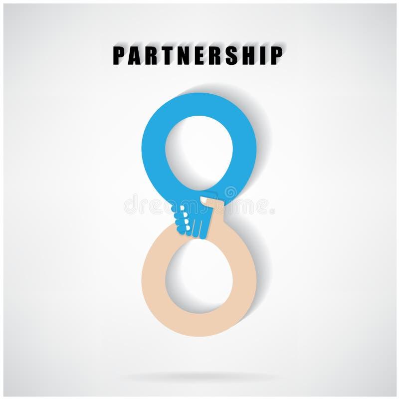 Partnerschaftskonzept stock abbildung