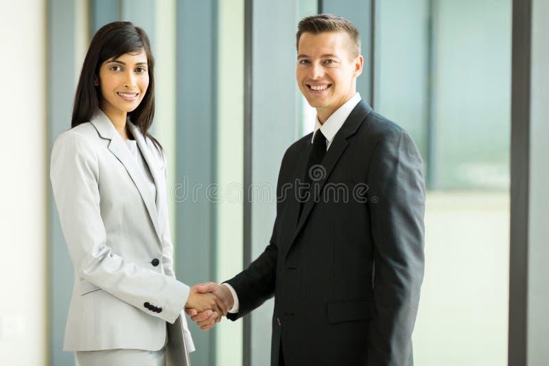 Partnershandenschudden royalty-vrije stock afbeelding