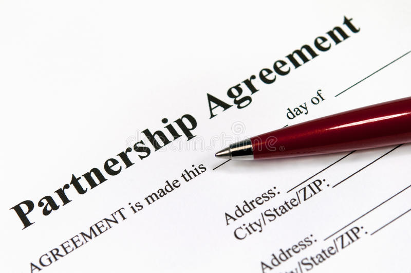 Partnership Agreement Stock Image Image Of Office Contract