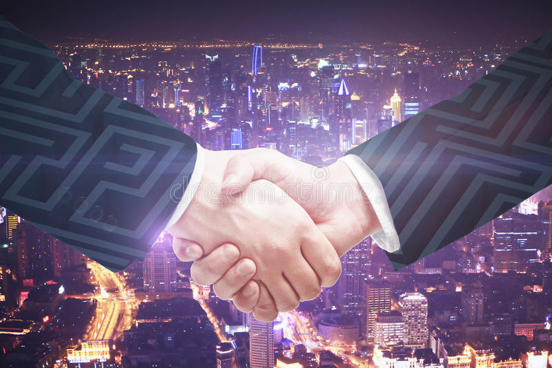 Partnership and business challenge concept stock photos