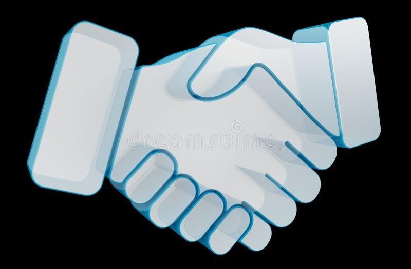 Partnership digital icon 3D rendering. Partnership digital icon isolated on black background 3D rendering stock illustration