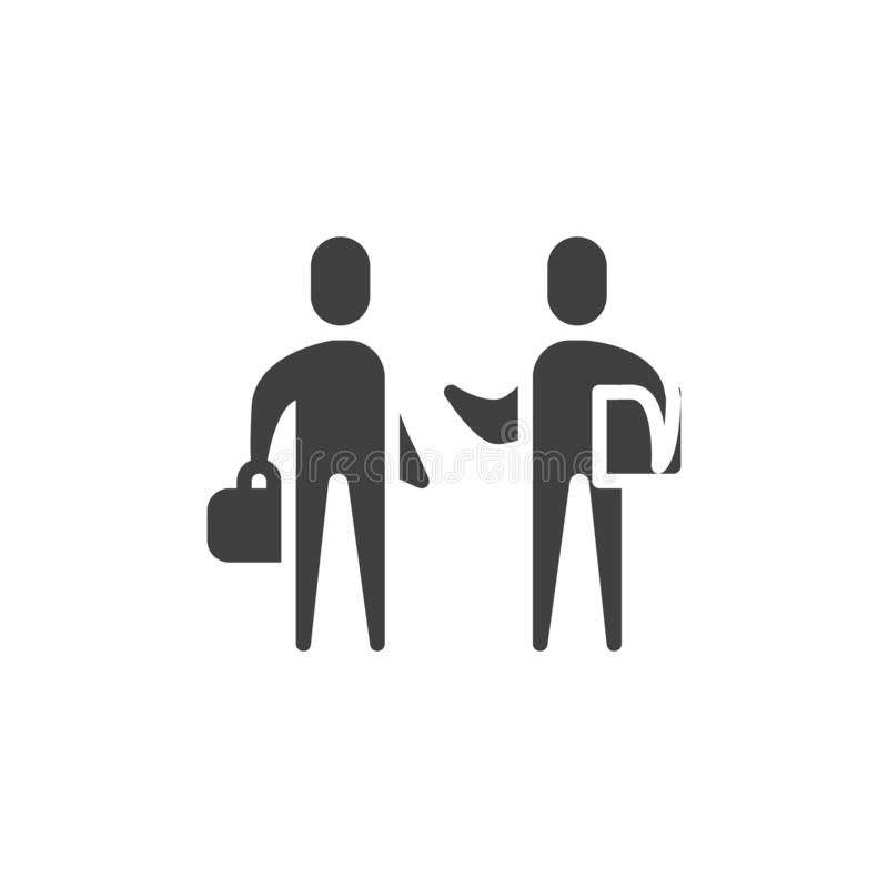 Partnership, handshake vector icon. Filled flat sign for mobile concept and web design. Men shaking hands glyph icon. Business deal, agreement symbol, logo royalty free illustration
