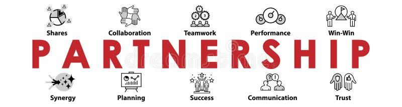 Partnership header. Icons set. vector illustration