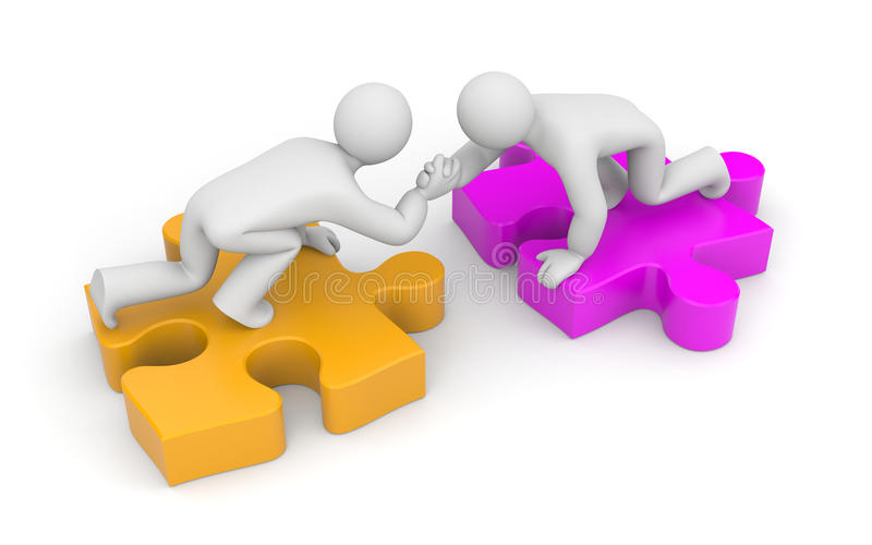Partnership. Helping hand vector illustration