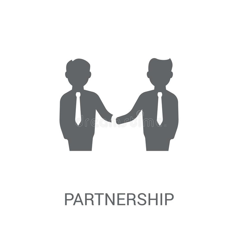 Partnership icon. Trendy Partnership logo concept on white background from Startup Strategy and Success collection stock illustration