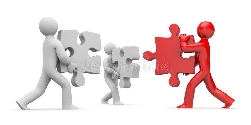 Partnership or leadership vector illustration