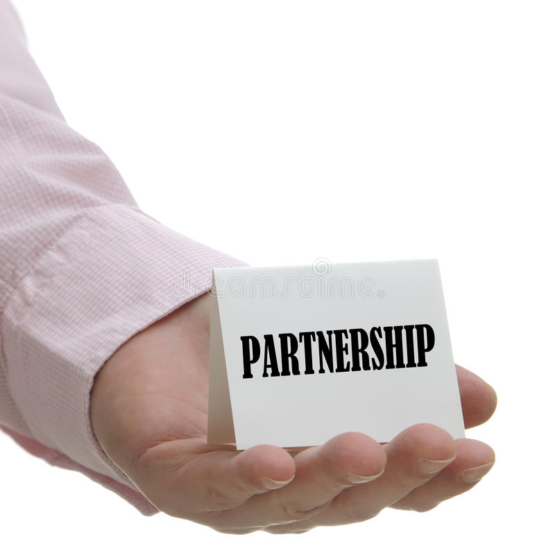 Download Partnership - sign series stock photo. Image of hold - 24597566