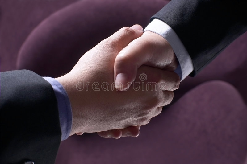 Partnership success. Successful partnership in business prospect royalty free stock image