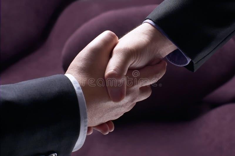 Partnership success. Successful partnership in business prospect stock photos
