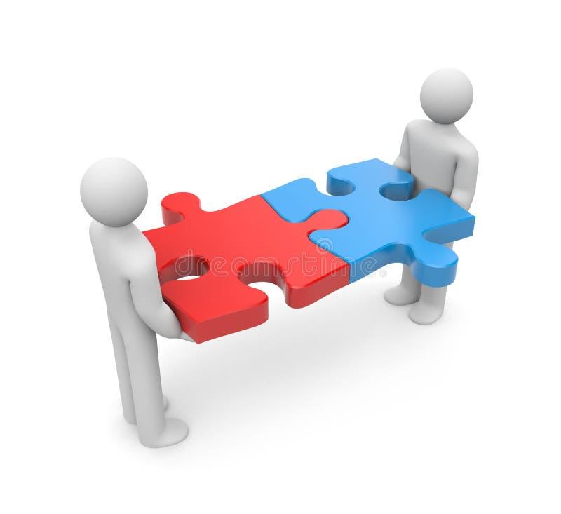 partnerskap vektor illustrationer