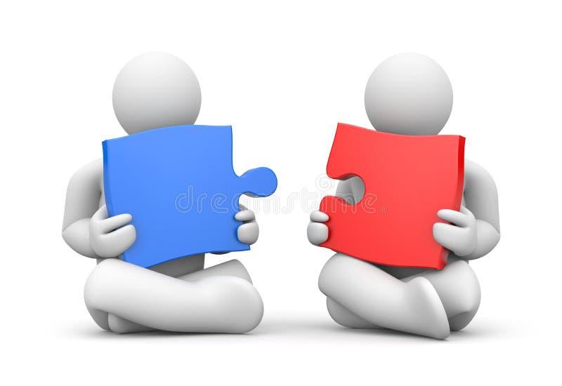 partnerskap stock illustrationer